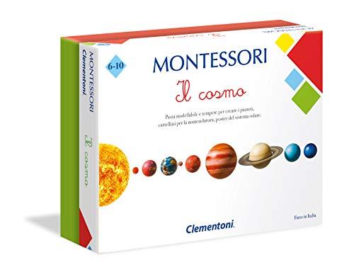 Clementoni 16248, Montessori, Il Cosmo, Made in Italy, Gioco Montessori 6 anni, Gioco Educativo Metodo Montessoriano (Versione in Italiano), Gioco Mondo