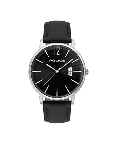 Police Herren Chronograph Quarz Uhr mit Leder Armband PL.15307JS/02