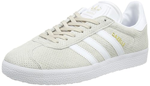 adidas Damen Gazelle Sneakers, Braun (Clear Brown/Footwear White/Gold Metallic), 38 2/3 EU