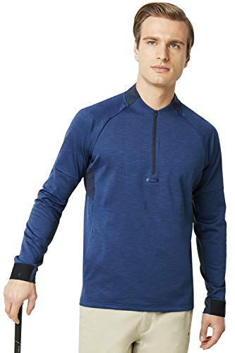 Oakley Hommes Knockdown Mixte Toison 1/4 Zip Golf Pull - Dark Bleu - XL