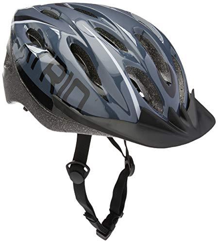Capacete para Ciclismo MTB 2.0 Tam. M com LED Traseiro 19 Entradas de Ventilação Cinza/Preto - BI170 Atrio Adultos