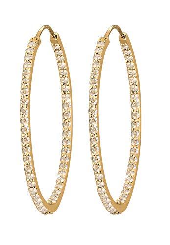 Elli PREMIUM Ohrringe Elli Damen PREMIUM Ohrringe Creolen mit Swarovski Kristallen in 925 Sterling Silber