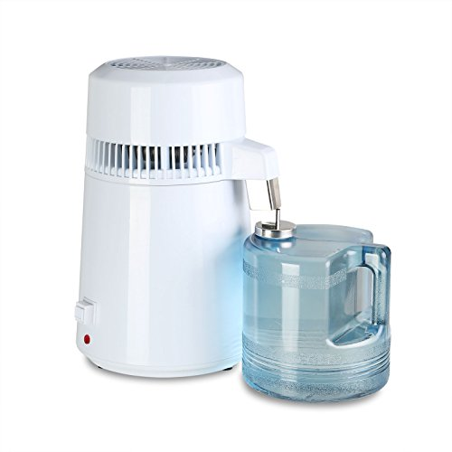 CNCShop Water Distiller Water Distillation Purifier All Stainless Steel Internal 4L Purifier Filter Effective