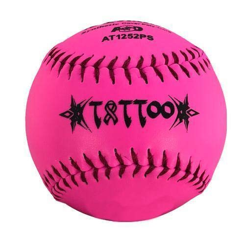AD Starr Tattoo 52-300 12 Inch Pink (NO Logo) Slowpitch Softball - One Dozen: AT1252PS