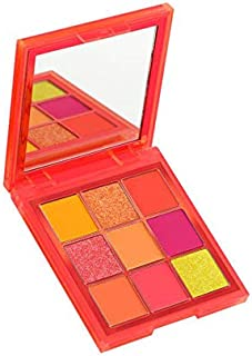 Huda Beauty Neon Obsessions Eyeshadow Palette! Highly Pigmented 9 Shades! Mattes, Creamy Metallics And Shimmers Eye Shadow! Smooth And Blendable Texture! Choose From Orange, Pink Or Green! (Orange)