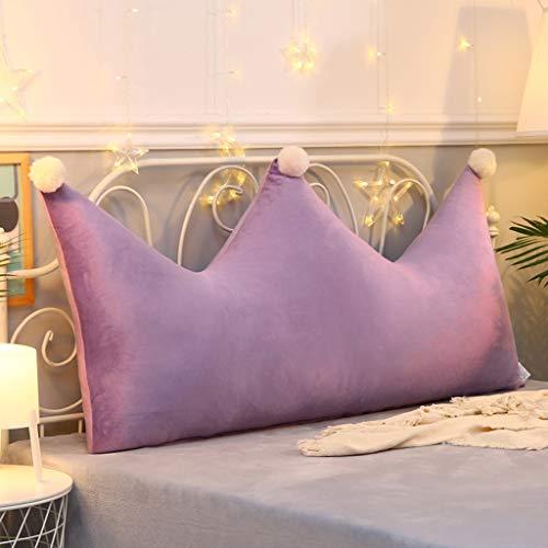 CYLQ kussensloop met dubbele kop, PP katoen, gewatteerde rugleuning, ondersteunend leesbedkussens, multifunctioneel zitkussen voor thuiskantoor, wasbaar in 5 kleuren, 6 maten