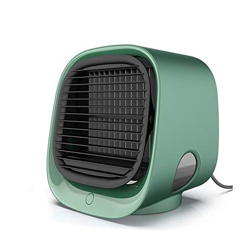 Robots master Climatiseur Multi-Fonctions Humidifier Bureau Refroidisseur d'air du Ventilateur avec l'eau Accueil 5V Bladeless Fan (Color : Green)