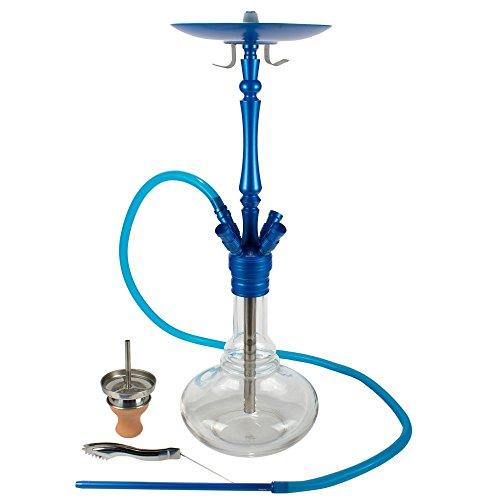 ShishaMe® Alula Beauty Premium Shisha Komplettset 70 cm mit 4 Anschlüssen - Blau