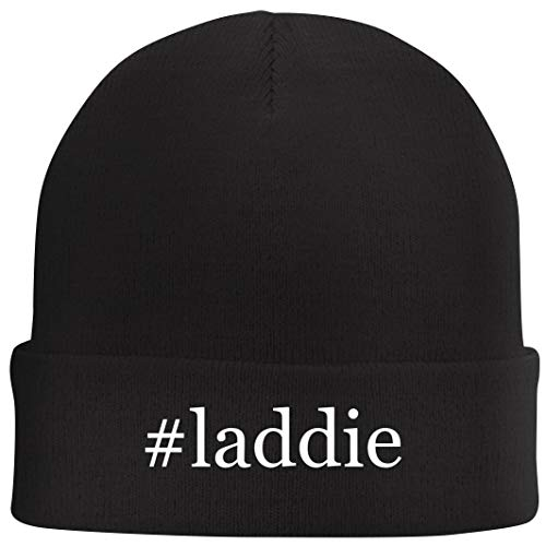Tracy Gifts #Laddie - Hashtag Beanie Skull Cap with Fleece Liner, Black, One Size