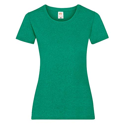 Fruit of the Loom - Lady-Fit T-Shirt \'Valueweight T\' / Retro Heather Green, XL