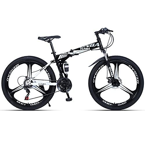 Mountain Bike da Uomo Ruote da 26 Pollici Doppio Ammortizzatore Doppio Freno a Farfalla Bicicletta a velocità variabile 21 velocità/24 velocità/27 velocità/30 velocità