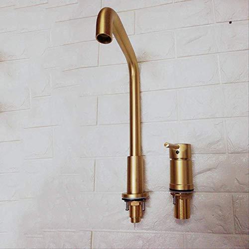 Alle Kupfer ziehen Küche Untertischbecken Gold,Küchenarmatur,Wasserhahn Küche, Einhand-Spültischbatterie mit herausziehbarer Spülbrause chrom, Schwenkbereich 360°,100% Blei- und Nickelfrei Küchen- S