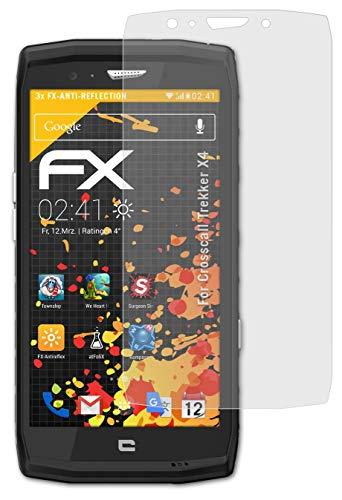 atFolix Panzerfolie kompatibel mit Crosscall Trekker X4 Schutzfolie, entspiegelnde & stoßdämpfende FX Folie (3X)