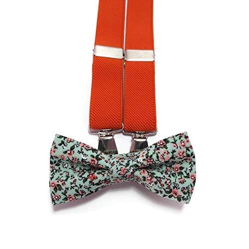trust BURNT ORANGE elastic Y-back suspenders bl Mint orange tiny OFFicial store green