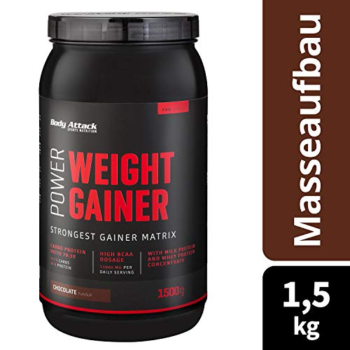 Body Attack Power Weight Gainer Chocolate, 1er Pack (1 x 1.5 kg) - 5