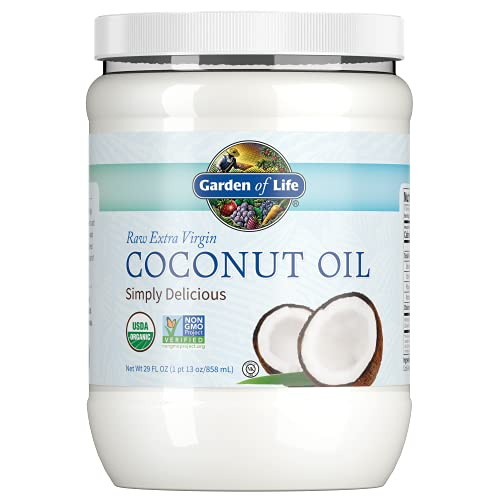 Garden of Life Coconut Oil for Hair, Skin, Cooking - Raw Extra Virgin...