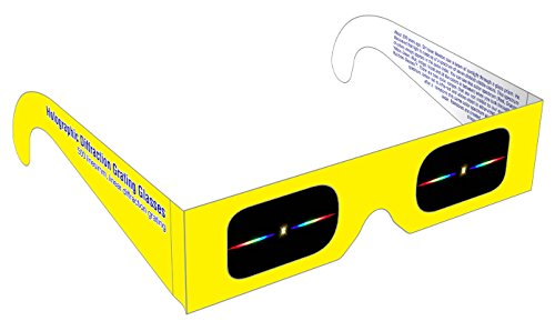 Rainbow Symphony Diffraction Grating Glasses - Linear 500 Line/Millimeters, Package of 50