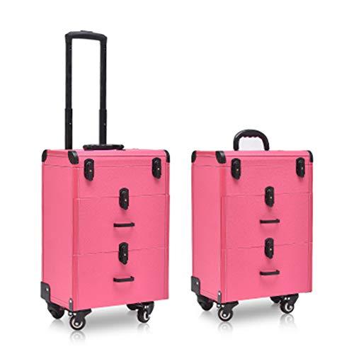 Boîte À Outils De Coiffure De Mode Nail Technician Trolley Case Cosmétiques Beauty Trolley Box Travel Makeup Case Storage Box,C