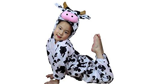 Niños Disfraces de Animales Niños Niñas Unisex Disfraces Cosplay Niños Onesie (Vaca, M (para niños de 90 a 105 cm de Altura))