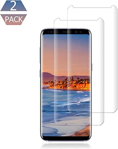 [2 Pack] Galaxy S9 Plus Screen Protector [9H Hardness][Anti-Scratch][Anti-Bubble][3D Curved] [High Definition] [Ultra Clear] Tempered Compatible Samsung Galaxy S9 Plus.