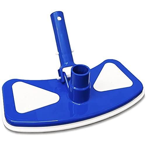 xiaowang Cabezal de vacío para piscina, mango de clip EZ con conexión de manguera de 1-1/4 pulgadas o 1-1/2 pulgadas, para limpieza de superficie segura en piscinas forradas de vinilo