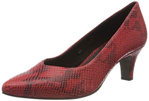 bugatti Damen 412685744800 Pumps, Rot (Red/Animal Print 3082), 40 EU