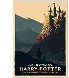 AS65ST12 lona impresiones - Expreso de Hogwarts callejón Diagon Hogsmeade imágenes del arte, Cine...