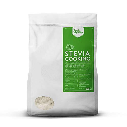 Stevia Eritritolo Dolcificante Naturale in Polvere 1 Kg | SOUTH GARDEN Stevia Cooking | 0% Kcal | 0% Zuccheri | Senza Glutine | Vegano | Senza Lattosio