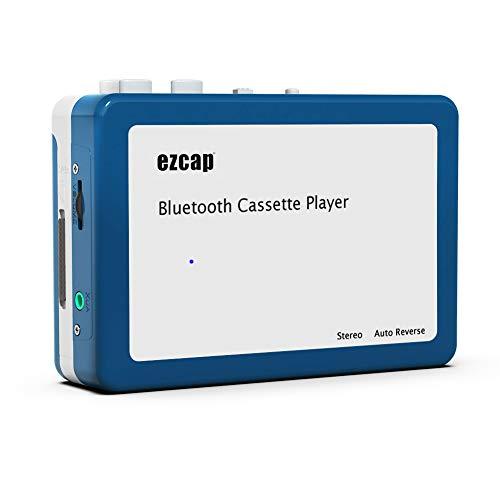 Y & H Reproductor de Cassette Bluetooth portátil, transmite música de Cinta Retro a Auriculares o Altavoces Bluetooth, Walkman Personal con Auriculares ezcap215