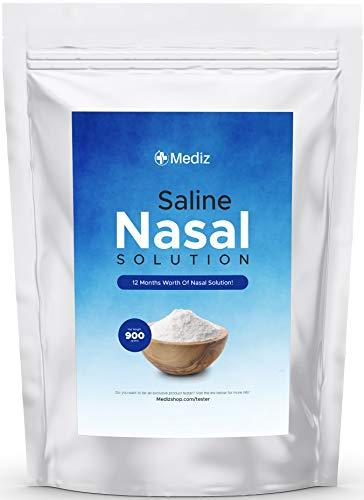 Neti Pot Salt (1 Year Worth), Neti Pot Salt Packets, Saline Packets Sinus Rinse, Sinus Rinse Packets for Netty Pot, Neti Pot Sinus Rinse Nasal Saline, Nasal Wash, Nasal Salt, Nasal Rinse