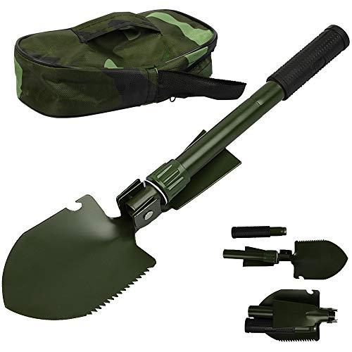 Speyang Pala Plegable, Pala Plegable Multifuncional, Pala Plegable Militar Supervivencia, Pala de Camping Plegable, para Campar, Hacer Excursionismo, Jardinería