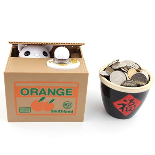 YINGZI Hucha Cat Money Bank Panda Thief Dinero Cajas de Dinero Juguete Piggy Banks Kids Piggy Banks Automático Estallido Moneda Piggy Bank Dinero Saving Box Encantador para niño
