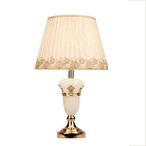 Lámparas de Escritorio Lámparas de Mesa y Mesilla Lámpara de mesa del jade de la manera del país del LED, iluminación decorativa casera moderna de la manera, viento pastoral, blanco simple, E27 Ilumin