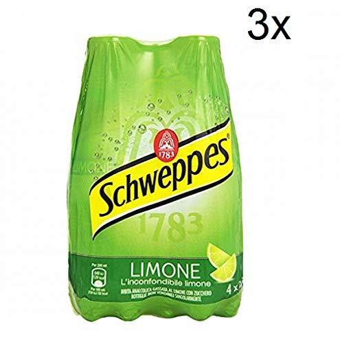 3X Schweppes Limone Lemon Lemonade PET ( 4 x 0,25Lt ) Refreshing analcoholic Drink