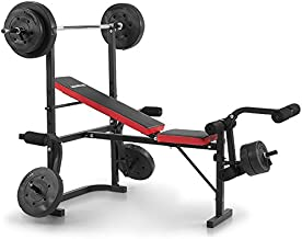 Powertrain Home Gym Bench Press Multi Gym with Barbell and 45kg Weights