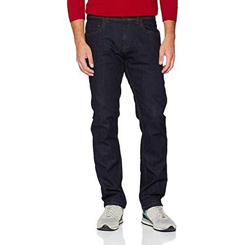 Camel Active Herren regular fit Houston Straight Jeans Dunkel Blau 38W / 32L