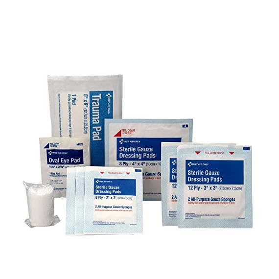 First aid only all-purpose medical first aid kit, 320 pieces emergency kit of first aid supplies 7 contains 299 essential first aid supplies for treating minor aches and injuries clear plastic liner in nylon case for organization and easy access to first aid supplies in an emergency soft sided, zippered case ideal for home, travel and on the go use