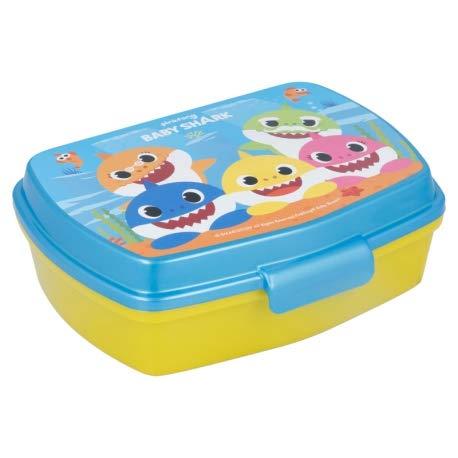 ILS I LOVE SHOPPING Contenitore Termico Porta merenda Scatola Sandwich Box per Bambini (Baby Shark)