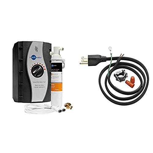 InSinkErator HWT-F1000S GIDDS-301901, One Size, Silver & Garbage Disposal Power Cord Kit, CRD-00