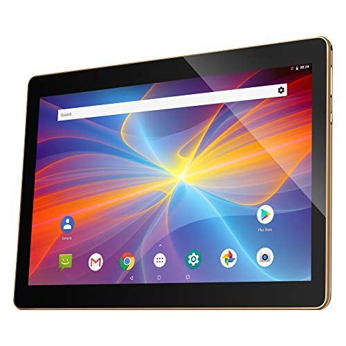 10.1 Inch 3G Tablet Android 8.1 Quad Core, 32GB ROM 2GB RAM Unlocked Phone Call Phablet PC with Google Play, Dual Sim Card Slots, GPS, WIFI, Bluetooth, Camera-Qimaoo K4
