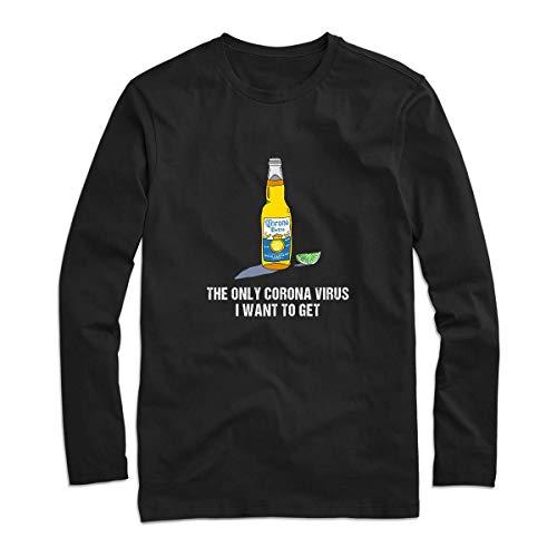 The Only Córónávírús I Want To Get Funny Shirt – Funny Paper Coroona Beer Shirt For Men – Córónávírús Against Strong Usa Handmade Shirt (2) Customize Long Sleeve Tee 5065