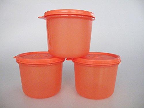 TUPPERWARE Kühlschrank 550ml orange (3) Sommer Hit Panorama Julchen Küchen-Minis