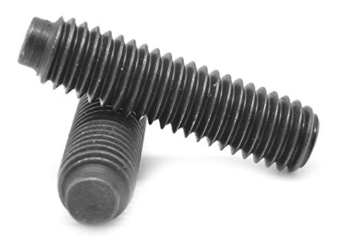 1//2-13 x 1 1//4 Coarse Thread Square Head Set Screw Oval Point Low Carbon Steel Case Hardened Plain Finish Pk 100 FT