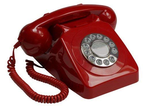 GPO 746 Teléfono fijo de botones con estilo retro de los años...