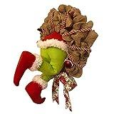 Yuui How The Grinch - Burlap de Navidad, decoración de guirnaldas de Navidad muy bonitos y bonitos regalos para amigos