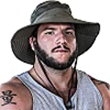 Fishing Hat Safari Cap with Sun Protection for Men and Women...