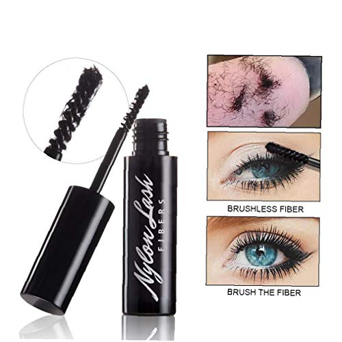 1PC 3D Lash Fiber Natural Ingredients Micro Fibers Adds Volume and Extension Lash Fiber Application with Mascara