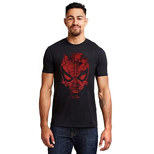 Marvel Spiderman Webhead T-Shirt, Black, L Uomo