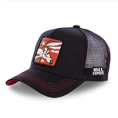 New Snapback Cotton Baseball Cap Hip Hop Dad Mesh Hat Trucker Hat-COYOTE BLACK