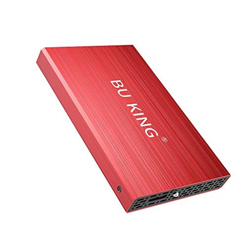 BU KING USB 3.0 Disco Duro Externo 1T HD Disco Duro 2.5'Dispositivo de Almacenamiento Externo Unidad Flash PS4 TV Rojo